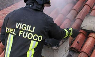 fuoco sul tetto