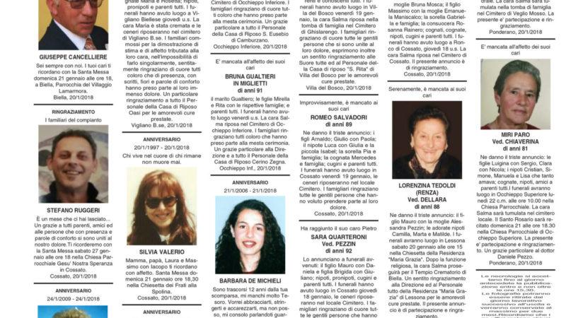 Pagina dei necrologi