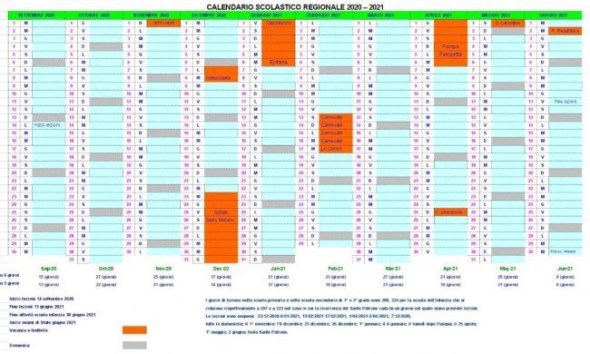 Piemonte, definito il calendario scolastico 2020 2021